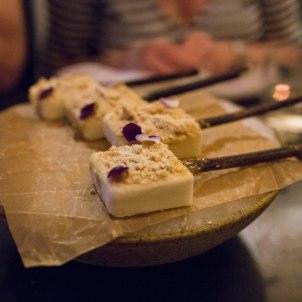 course seven - chamomile popsicle w. foie gras dust